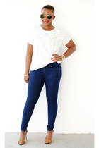 Express jeans - ray-ban sunglasses - Sole Society heels - Forever 21 t-shirt