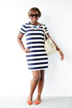 Chic couture online necklace - JCrew shoes - JCrew dress - Cole Haan bag