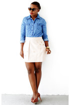 Old Navy shirt - Anthropologie skirt - Cole Haan pumps