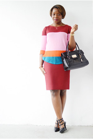 J Crew skirt - Shoedazzle shoes - JCrew sweater - Cole Haan bag