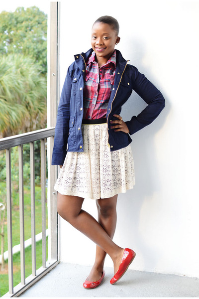 Cole Haan shoes - JCrew jacket - Target shirt - Macys skirt