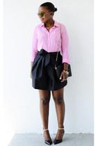 asos skirt - JCrew shirt - Zara heels