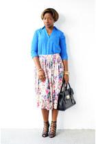 Schutz shoes - Express shirt - asos skirt