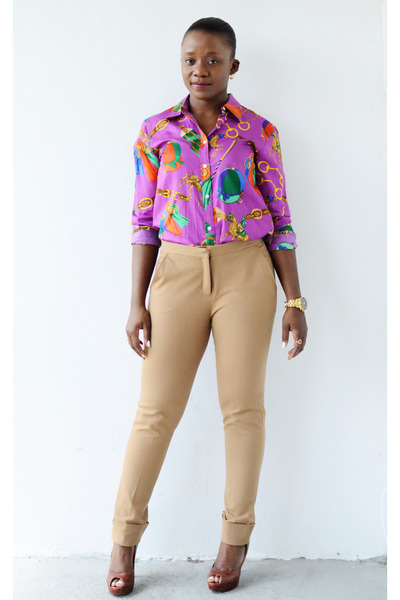 Ralph Lauren shirt - Mango pants - Cole Haan pumps
