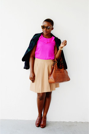 Cole Haan boots - Gap blazer - Jcrew top - Forever 21 skirt