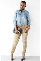 Zara bag - Target jeans - Bar III shirt - Zara heels