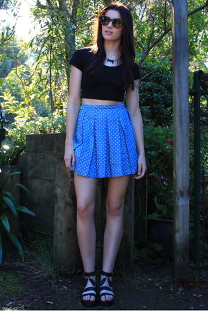 periwinkle huffer skirt - brown Karen Walker sunglasses