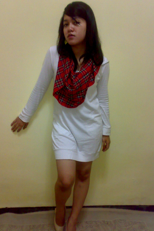 hongkong dress - scarf - Zara shoes