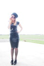 Black-glassons-shoes-black-pleather-midi-erratic-fashion-dress