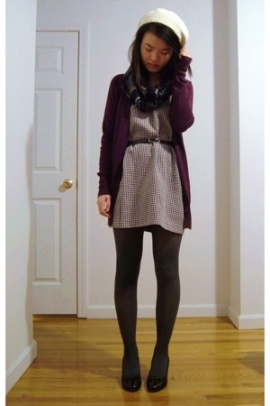Urban Outfitters sweater - moms closet dress - H&M scarf