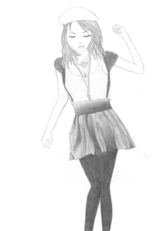 necklace - gray skirt - leggings - top - sweater