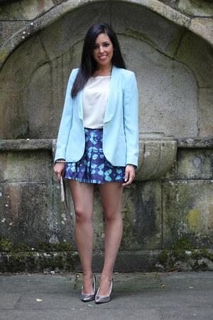 Yeënko blazer - Zara bag - Zara shorts - Stradivarius heels