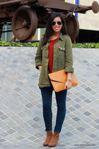 Mango boots - Zara jacket - OASAP bag