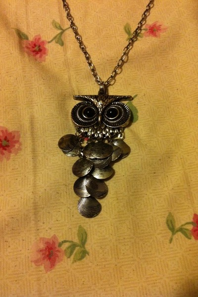 owl necklace It Girl necklace