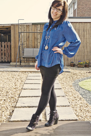 Matalan blouse - Primark boots - H&M skirt