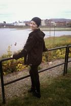 black Lovesick jeans - black thrifted hat - black Vixxsin jacket
