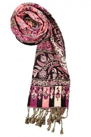 salmon Rajrang scarf