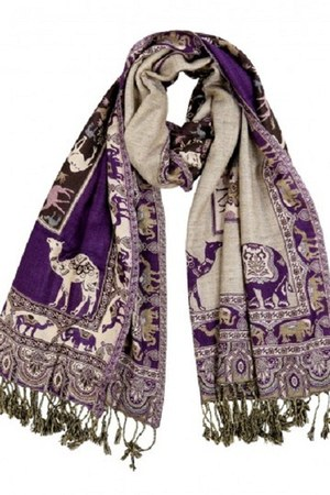 deep purple Rajrang scarf