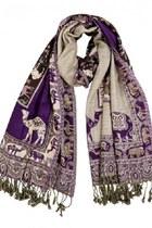 deep purple Rajrang scarf