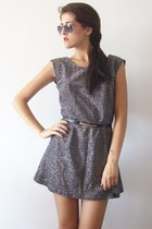black belt - heather gray dress
