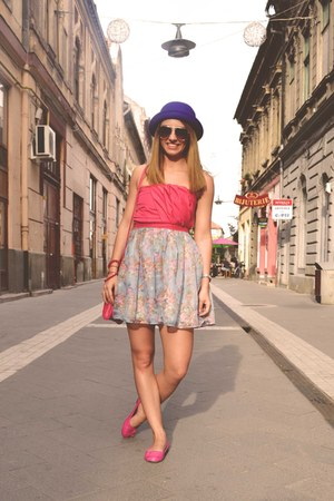 summer is mine Raluca Burtea dress - H&amp;M hat - New Yorker bag - H&amp;M glasses