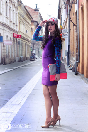 deep purple Raluca Burtea dress