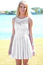off white silk Chanel dress