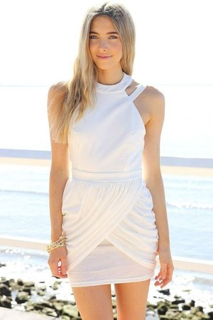 ivory silk Chanel dress