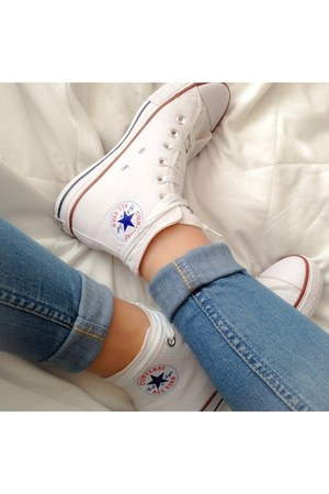 jeans - Converse sneakers
