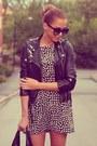 Black-zara-dress-white-zara-dress-black-h-m-jacket
