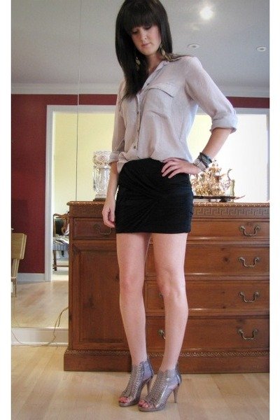 silver bcbg generation blouse - bronze Kelsi Dagger heels