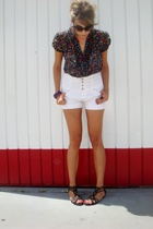 blouse - shorts - bracelet