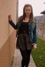 Blue-stradivarius-jacket-black-zara-shirt-black-pimkie-skirt