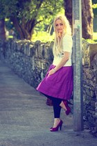 magenta bow shoerack heels