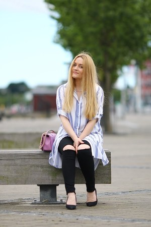 white shirt dress sammydress shirt - black 2nd One jeans