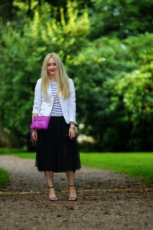 black tulle PERSUNMALL skirt - white Vero Moda blazer