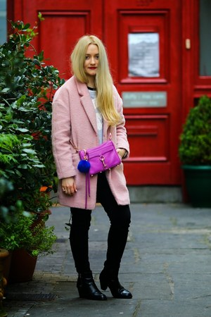 bubble gum Primark coat - black Topshop boots - black Primark jeans
