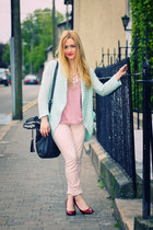 pink Penneys t-shirt - peach leopard print H&M jeans - dark gray LCredi bag