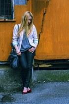 light purple Penneys jacket - black waxed Vero Moda jeans