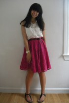 H&M blouse - Forever 21 skirt - Forever 21 necklace - H&M belt