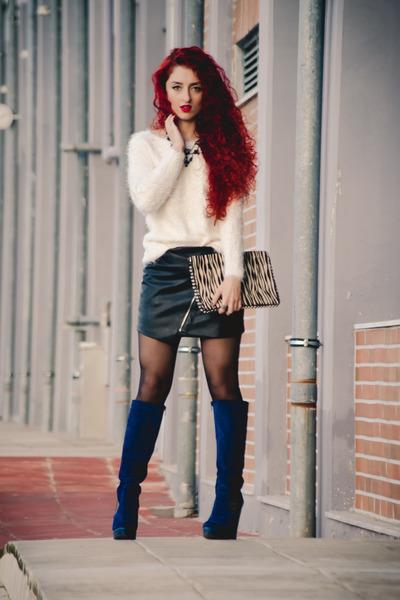 pull&bear skirt - Topshop sweater - Zara bag