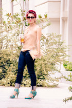 Rachel Zoe top - asos bag - dior sunglasses