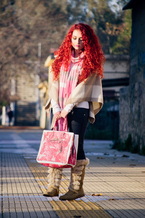 Banane Taipei bag - Topshop boots - vintage scarf