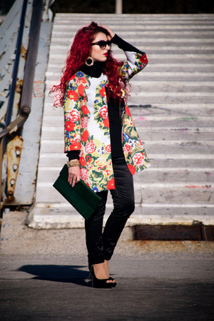 OASAP coat - Miss Sixty pants - asos earrings - Zara pumps