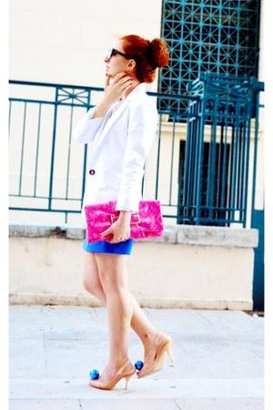 BSB blazer - vivienne westwood shoes - Zara skirt