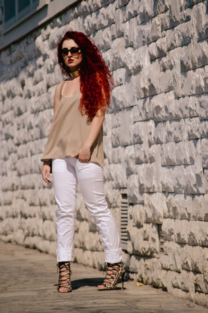 Mango top - Zara shoes - dior sunglasses