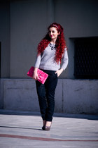 Massimo Dutti sweater - vintage bag - Steve Madden pumps