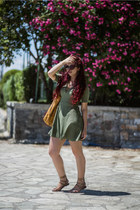 olive green H&M dress
