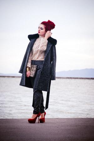 asos coat - Zara blouse - Steve Madden pumps