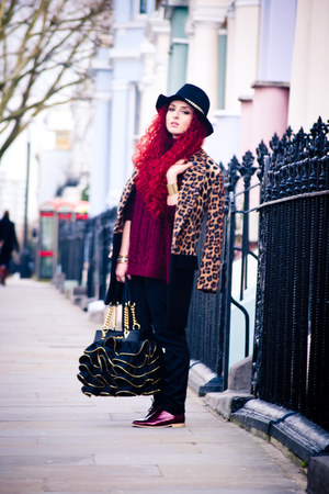 Moschino bag - Zara coat - Choies sweater - asos flats
